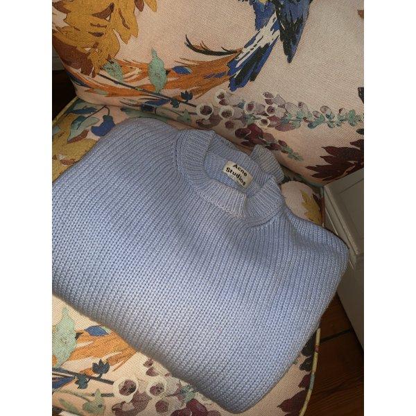 "Acne Studios Pullover Sweater in Hellblau Strickpullover Rundhals XS ""SHORA"""