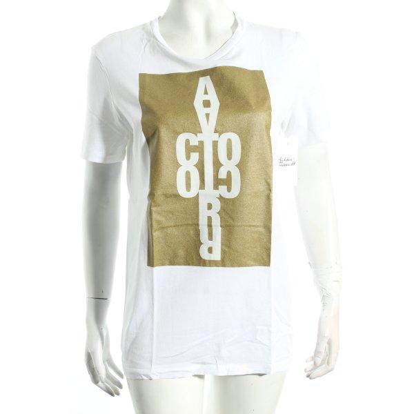 Acne T-Shirt weiß Motivdruck Street-Fashion-Look