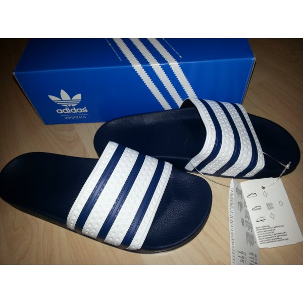 adidas adiletten neu blau weiss mit ovp katy perry. Black Bedroom Furniture Sets. Home Design Ideas