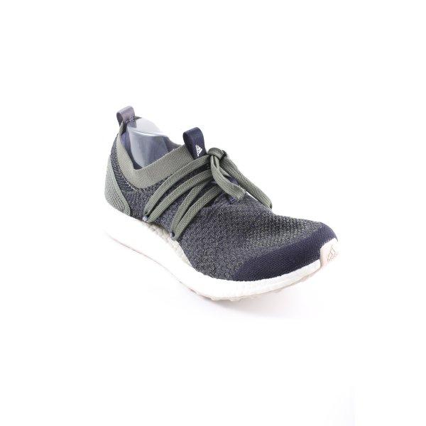 Adidas by Stella McCartney Schnürsneaker khaki-schwarz meliert sportlicher Stil