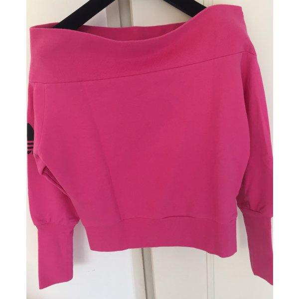 Adidas Originals Felpa fucsia neon-rosa Cotone