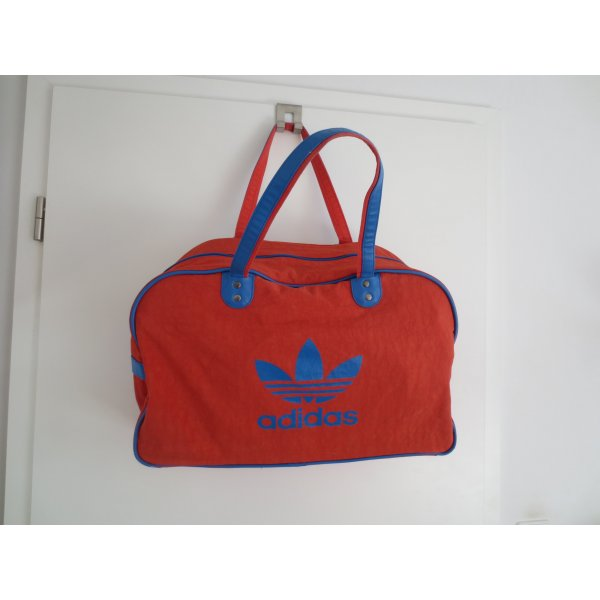 Adidas Originals Borsa da bowling rosso-blu neon Poliestere