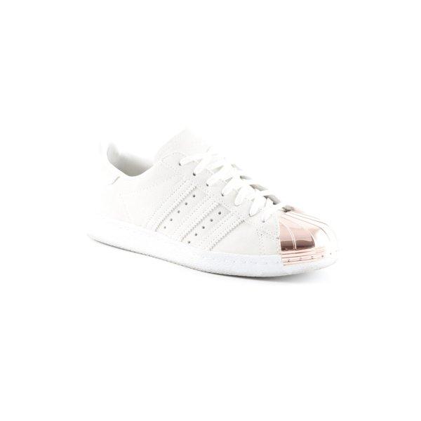 Adidas Schnürsneaker creme-roségoldfarben extravaganter Stil