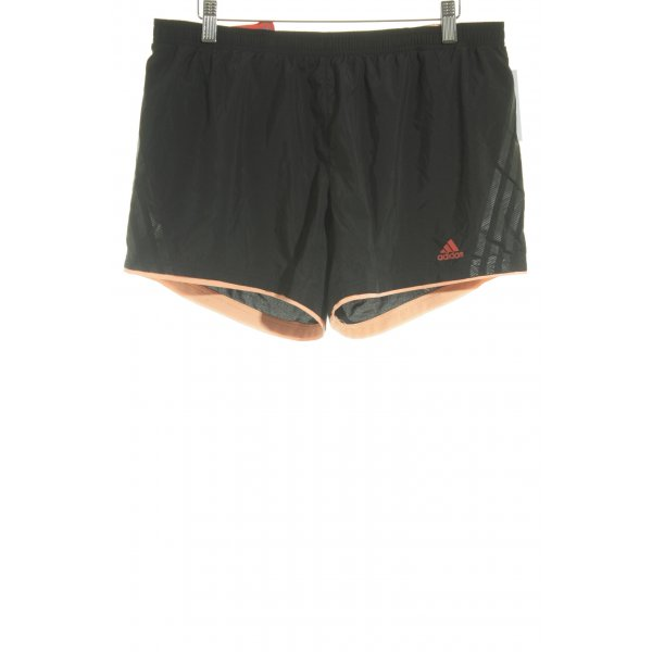 Adidas Shorts schwarz-neonorange Beach-Look
