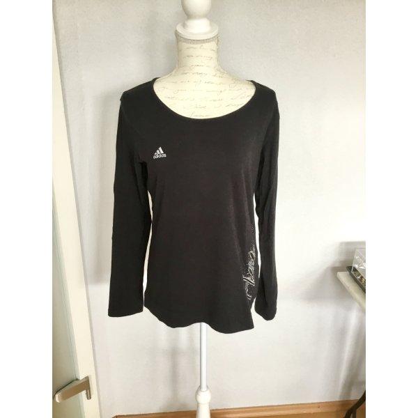 Adidas Sportshirt Longsleeve schwarz mit Strasssteinen