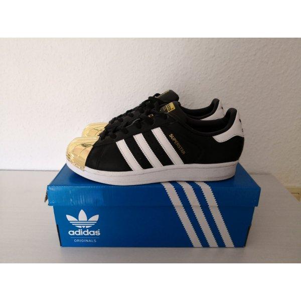 Adidas Superstar Gr. 37,5 NEU! metal toe gold schwarz