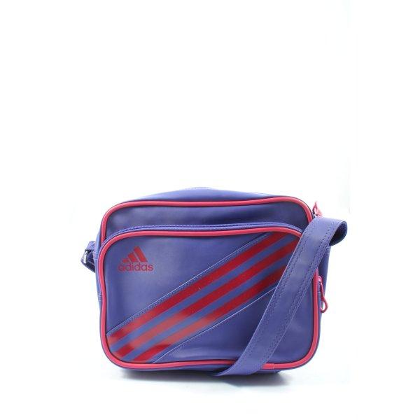 Adidas Umhängetasche blau-rot Motivdruck Casual-Look