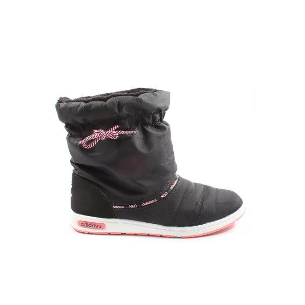 Adidas Winterstiefel schwarz Schriftzug gedruckt Casual-Look