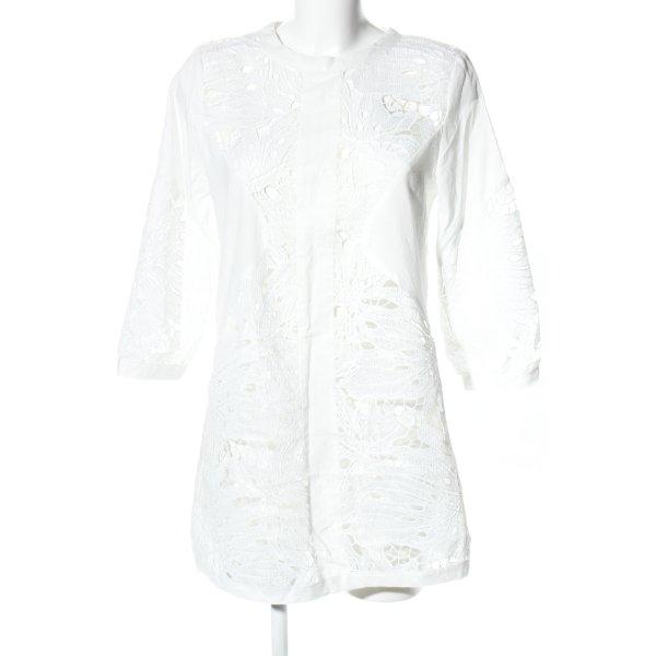 ADIVA Minikleid weiß Blumenmuster Casual-Look