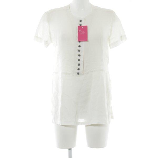 Admont Kurzarmhemd wollweiß klassischer Stil
