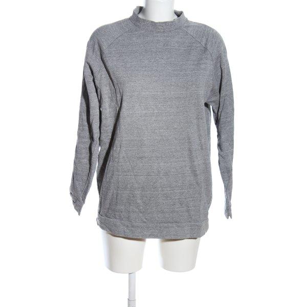 ADPT. Sweatshirt hellgrau meliert Casual-Look