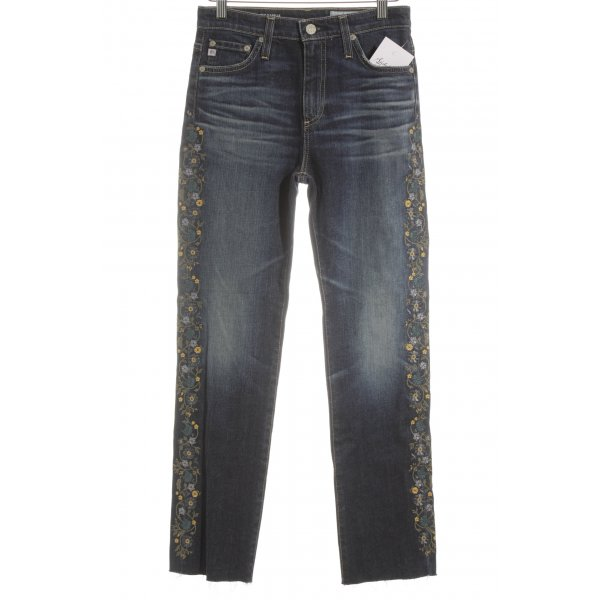 Adriano Goldschmied Hoge taille jeans bloemen patroon straat-mode uitstraling