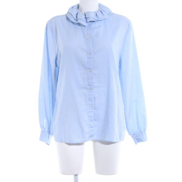Änny N Rüschen-Bluse himmelblau Elegant