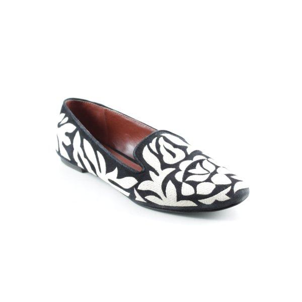 AERIN Slipper schwarz-wollweiß extravaganter Stil