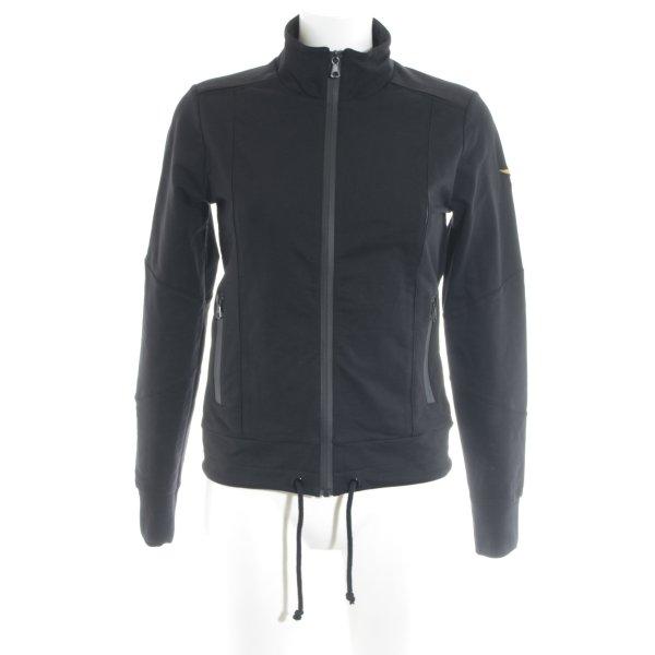 Aeronautica Militare Softshelljacke schwarz sportlicher Stil