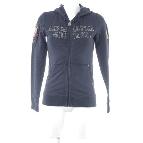 Aeronautica Militare Sweatjacke dunkelblau sportlicher Stil