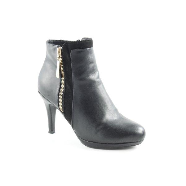 AF Reißverschluss-Stiefeletten schwarz extravaganter Stil