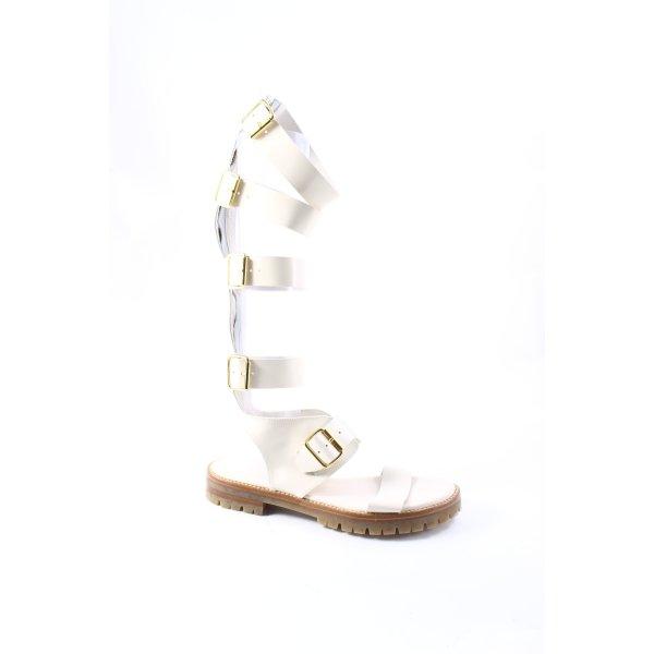 AGL Sandalo romano bianco sporco-beige chiaro stile da moda di strada
