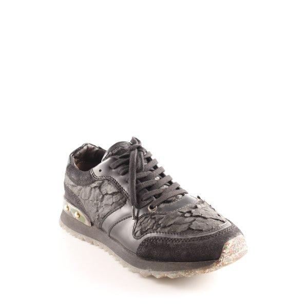 AGL Sneaker stringata nero Motivo mimetico stile stravagante