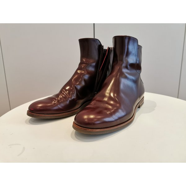 AGL weinroter Metallic Chelseaboot 38,5
