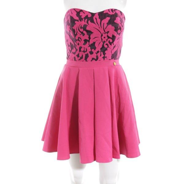 Agnes Bustierkleid pink-schwarz Business-Look