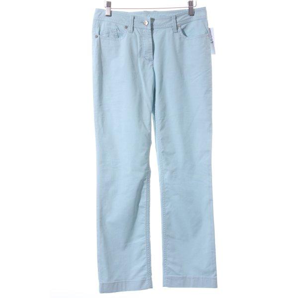 Airfield Straight-Leg Jeans türkis schlichter Stil