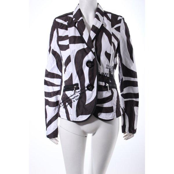 Airfield Übergangsjacke weiß-schwarz abstraktes Muster Street-Fashion-Look