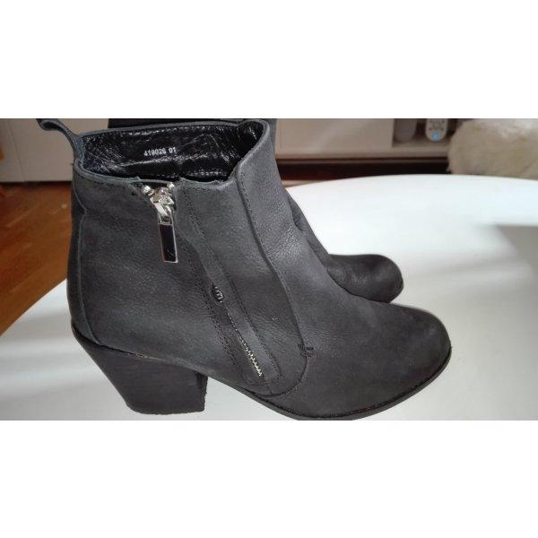 Akira Pistol Boots schwarz Leder Acne Fake