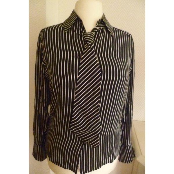 ALBA MODA - NEUE, modisch, gestreifte Bluse mit passender Krawatte -Gr.38