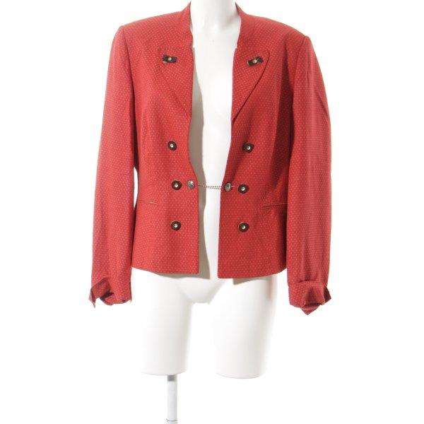 Alba Moda Trachtenjacke rot-wollweiß Punktemuster klassischer Stil