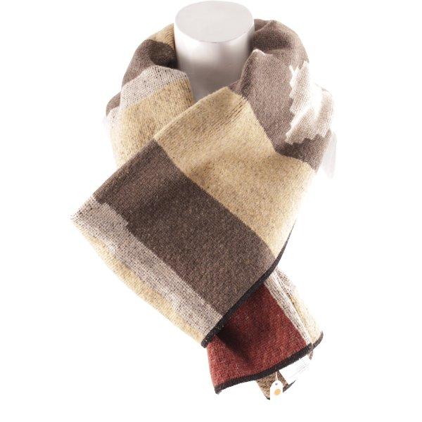 ALDO MARTIN'S Wollschal abstraktes Muster klassischer Stil