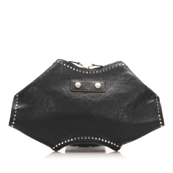 Alexander McQueen De Manta Studded Leather Clutch Bag