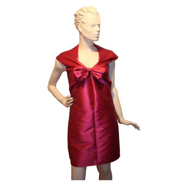 Vestido bustier rojo ladrillo Algodón