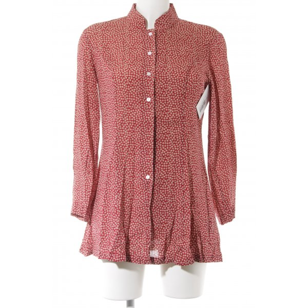 Alice's Pig Long-Bluse rostrot-creme Blumenmuster Casual-Look