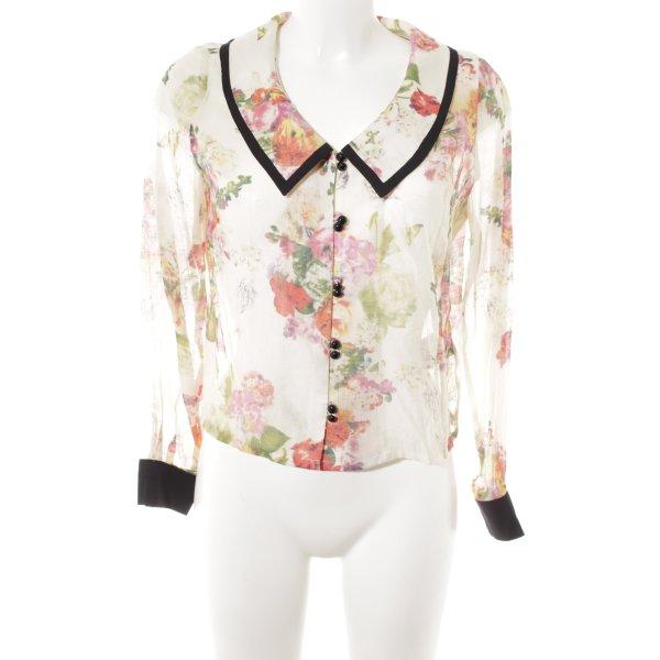 Alice's Pig Transparenz-Bluse Blumenmuster Vintage-Look