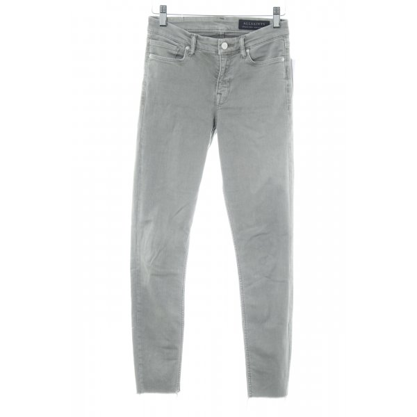 All Saints Stretch Jeans grau Casual-Look