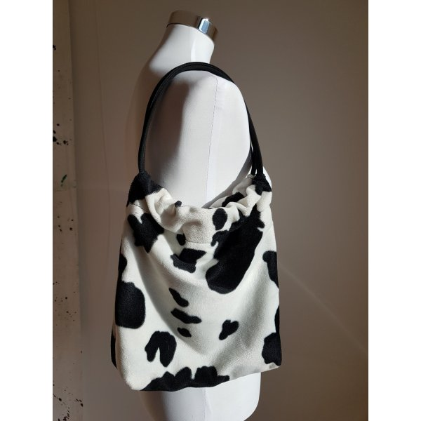 Handbag white-black