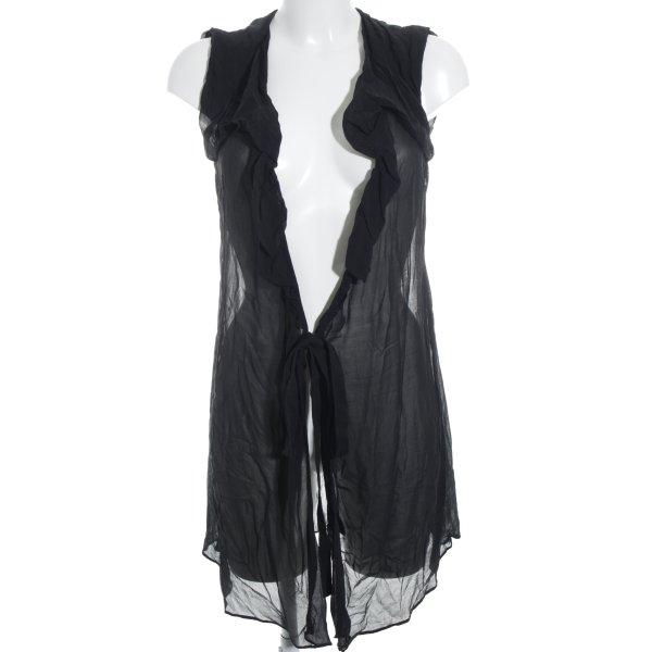 AllSaints Seidentop schwarz schlichter Stil