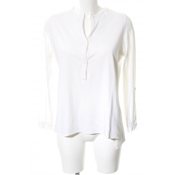 Allude Langarm-Bluse weiß Casual-Look