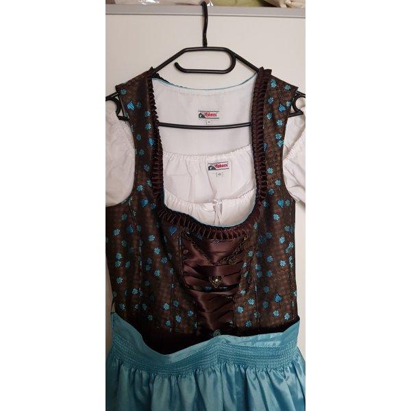 Alphorn Vêtement traditionnel brun-bleu clair