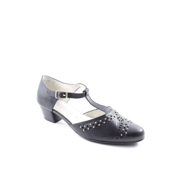 Alpina Mary Jane Schoenen zwart klassieke stijl