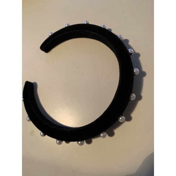 Altuzarra Haarreif Haarband in Samt mit Perlen besetzt Headband