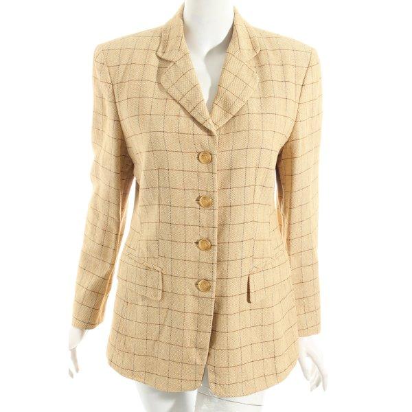 Ambiente Blazer beige-dark brown check pattern elegant