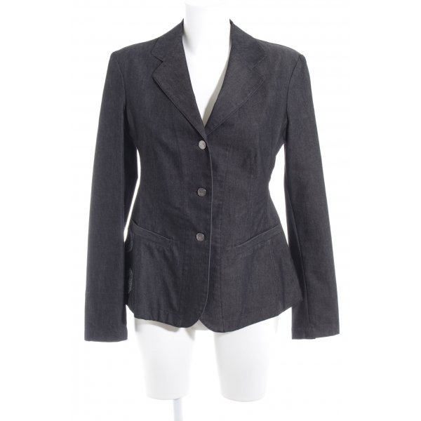 Ambiente Denim Blazer anthracite themed print casual look