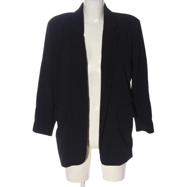 American Vintage Long-Blazer schwarz Business-Look