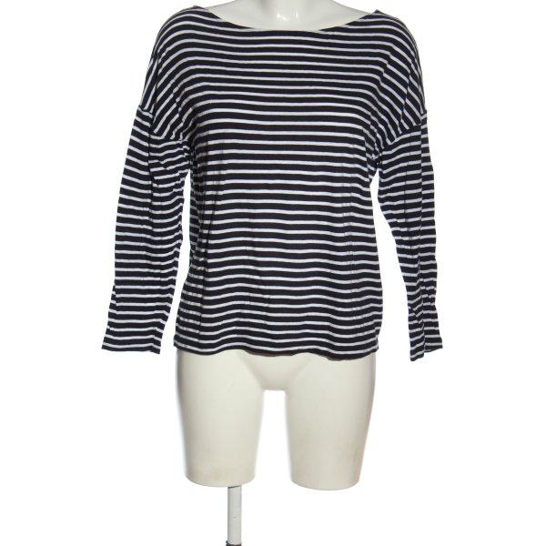 American Vintage Longsleeve schwarz-weiß Streifenmuster Casual-Look