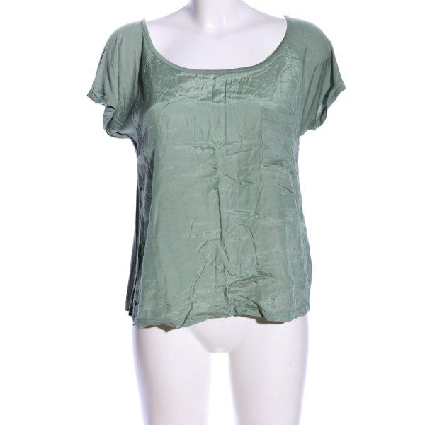 Amisu T-Shirt grün Casual-Look