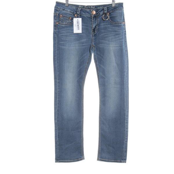 Amor, Trust & Truth Straight-Leg Jeans dunkelblau Jeans-Optik