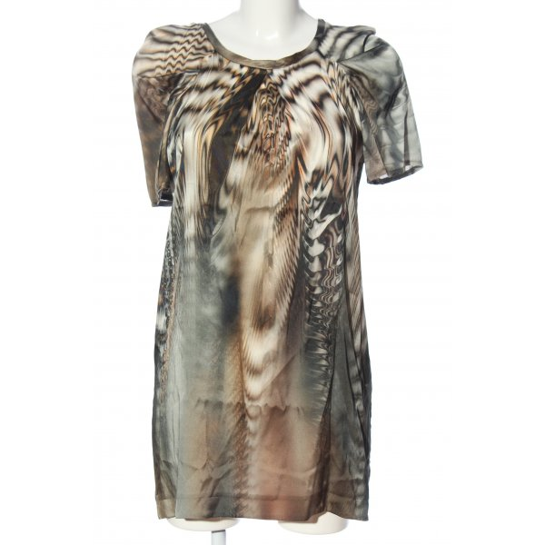 Ana Alcazar Kurzarm-Bluse abstraktes Muster Elegant