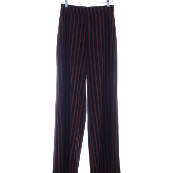 Ana Alcazar Jersey Pants black-dark orange striped pattern casual look